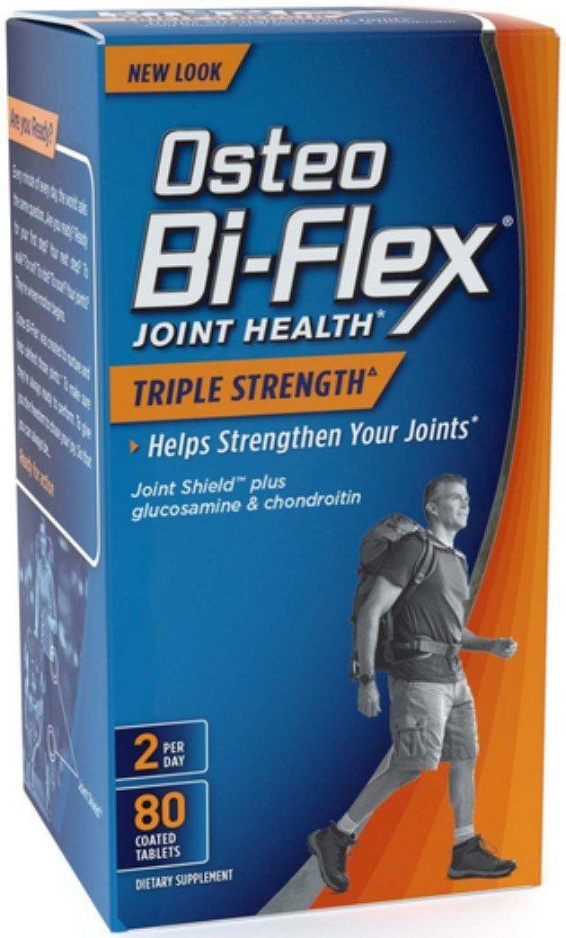 Osteo Bi-Flex Advanced Triple Strength Coated Tablets 80 ea (Pack of 8)