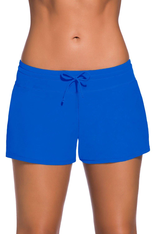 Happy Sailed Women Sports Swim ShortsTankini Bottoms Plus Size Board Shorts S-XXXL HS41977
