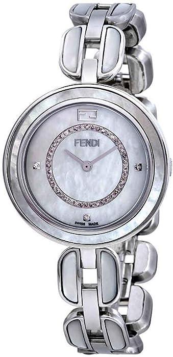 010cee8ec329 Fendi F361034500D3 - Reloj de pulsera con esfera de diamante de nácar