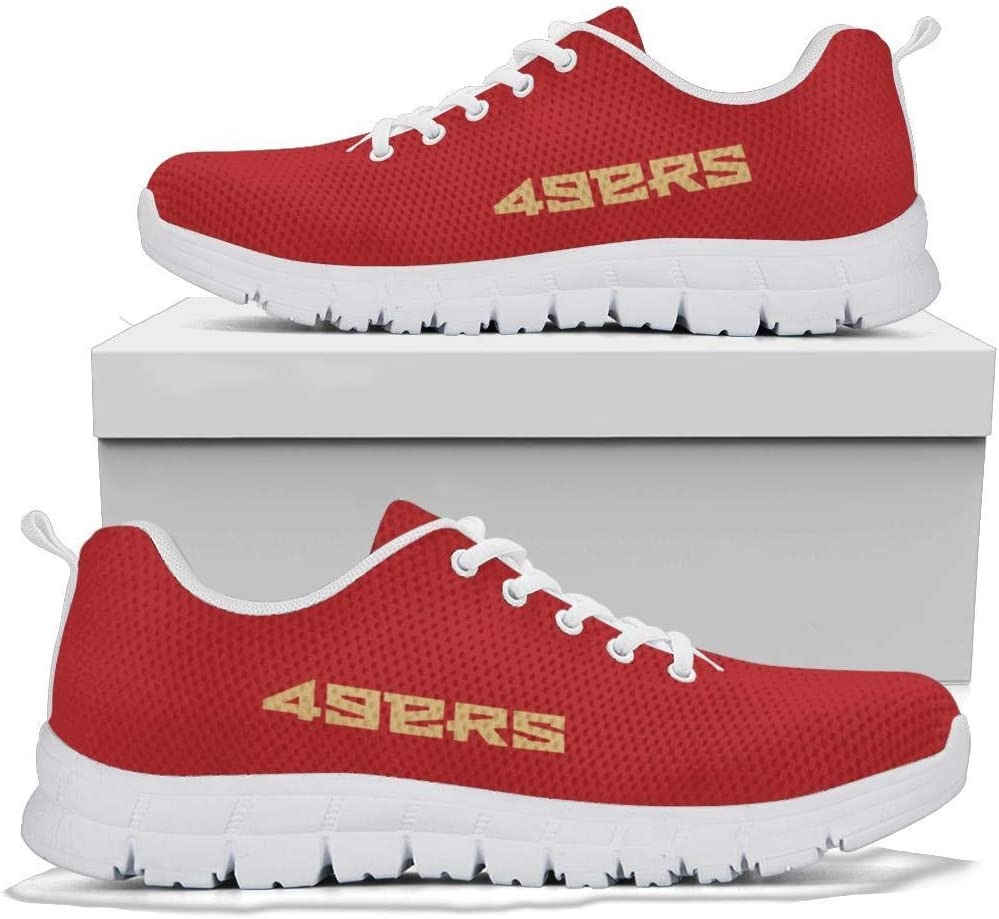 Football Team Logo 49ers Sneaker Athletic Running Shoes Sneakers for Wowen and Men