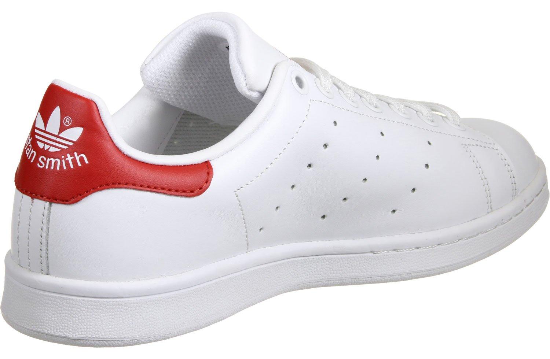 Adidas Stan Smith, Zapatillas para Hombre 40 2/3 EU|Blanco Rojo