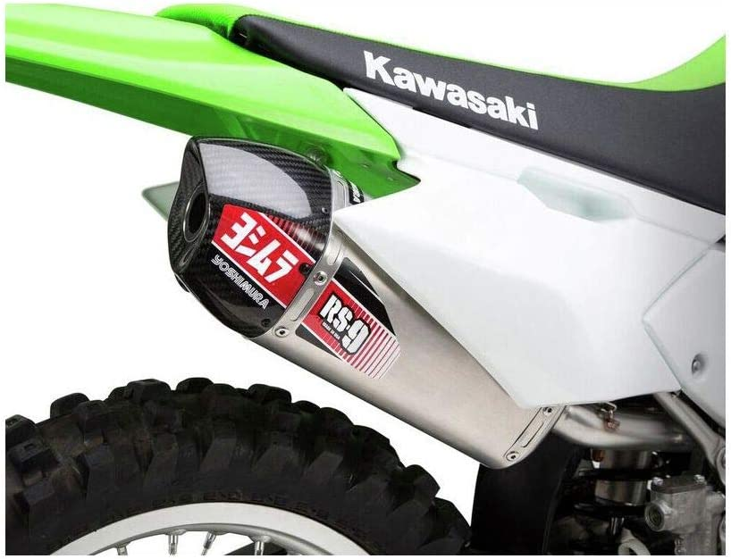Yoshimura RS-9 Works Finish Complete Exhaust with Stainless Header Enduro//Stainless//Aluminum//Carbon Fiber for 11-19 Kawasaki KLX140L