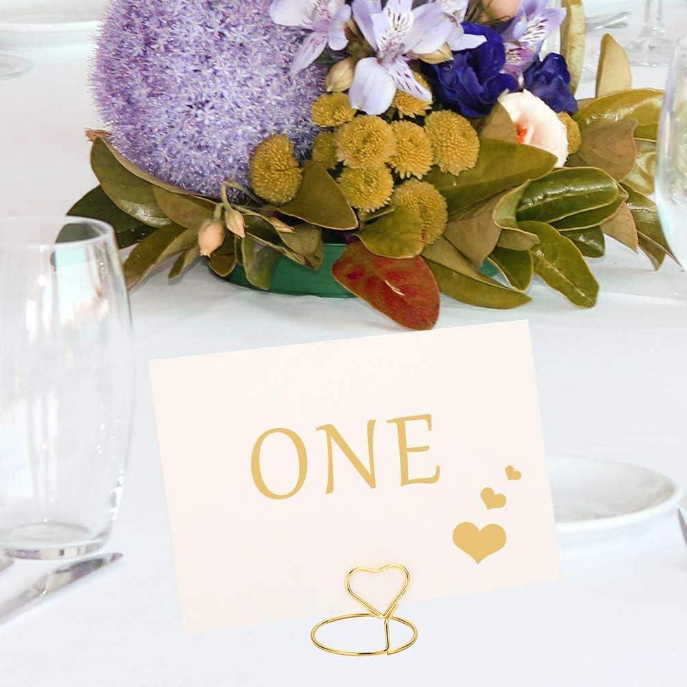 Dinnerpartys Lebensmittelschilder Gold Gaosheng 20 St/ück Herzform Mini Draht Foto Tischkartenhalter Metall Kartenhalter St/änder Hochzeit Name Platzhalter f/ür Hochzeiten