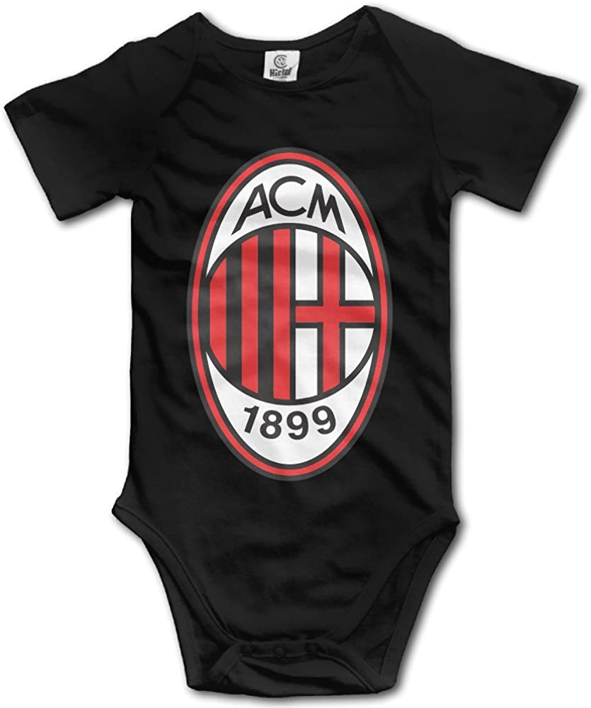 Okben A C Milan Football Team Short Sleeve Baby Bodysuit Onesie For Baby Boys Baby Girls Amazon Ca Clothing Accessories