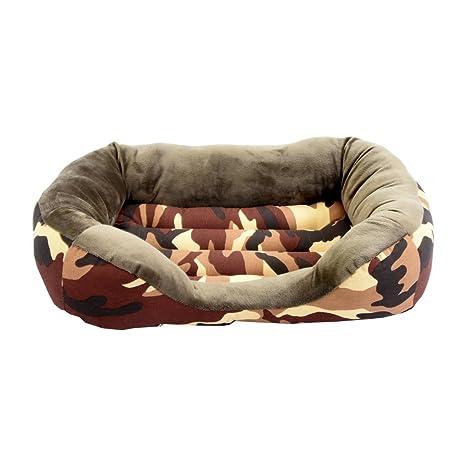 Cama para perro y gato Camuflaje Marrón 80*60cm.