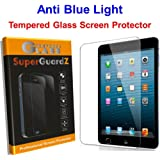 "[2-Pack] For iPad Air 2 / iPad Air 1 / iPad Pro 9.7"" - SuperGuardZ Tempered Glass Anti Blue Light [Eye Protect] Screen Protector [Lifetime Replacement], 9H, Anti-Chip Edge, Shatterproof"
