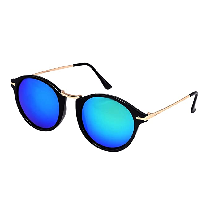 fec12d9c35f Younky Unisex UV Protected Round Stylish Blue Mercury Sunglasses For Men