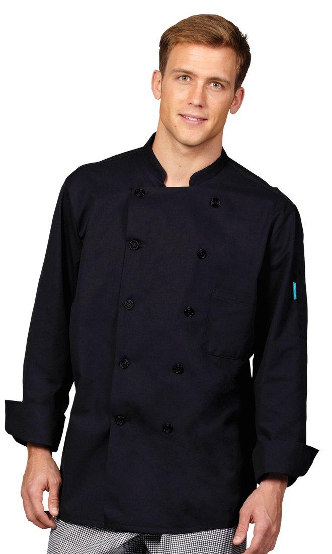 Superior Uniform Group Unisex Coolin' Edge Long Sleeve Chef Coat with Mesh Back by Superior Uniform Group