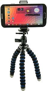 Arkon Mini Tripod with Universal Phone Mount Holder for iPhone X 8 7 6S Plus iPhone 8 7 6S Retail Black