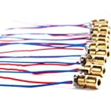 DTOL 10 X Mini Laser Dot Diode Module Head WL Red 650nm 6mm 5V 5mW Pack of 10