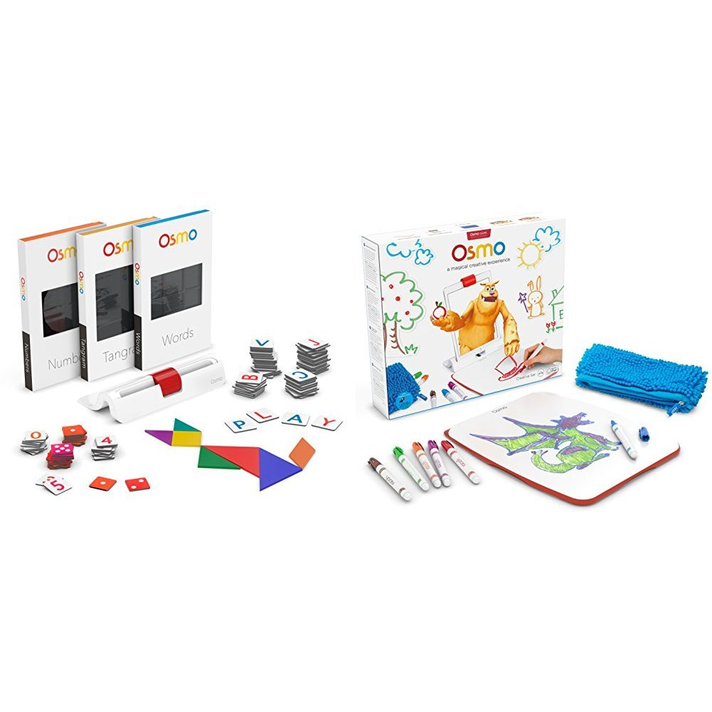 Osmo Genius Kit with Osmo Creative Set with Monster Game (Base required) Bundle by