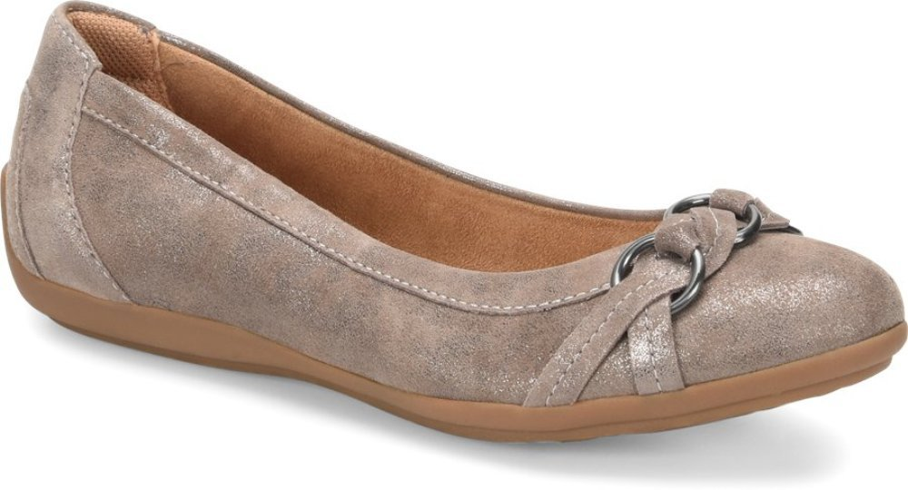 Comfortiva Women's, Maloree Slip on Flats B07BRZVH78 6 W US|Smoke