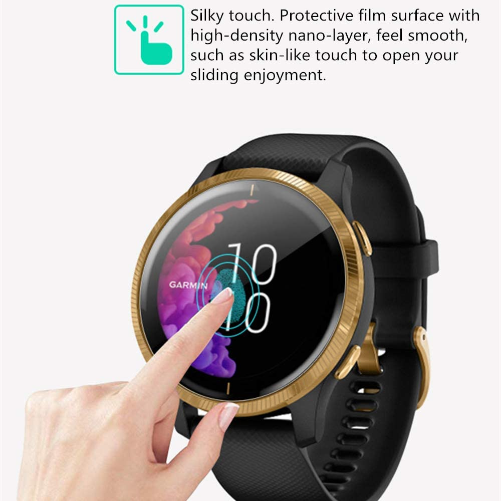 99.9/% High Definition Clear Soft Skin Smartwatch Protective Film LUPAPA for Garmin Vivoactive 4S Screen Protector Flexible TPU Film 6-Pack Self Healing, Anti-Scratch, Bubble Free