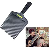 Hair Care & Styling Combs Black Plastic Hair Comb Level Extra Big Flattoper Comb Large Wide Fork Flat Combs With Balance Ruler Flat Topper Styling