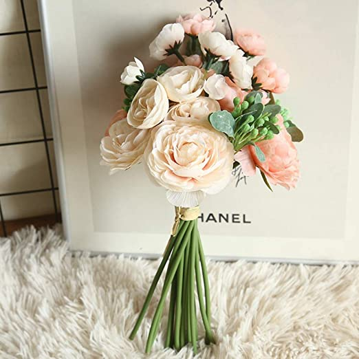 Ramo de flores artificiales para arreglos florales, ramo de boda ...