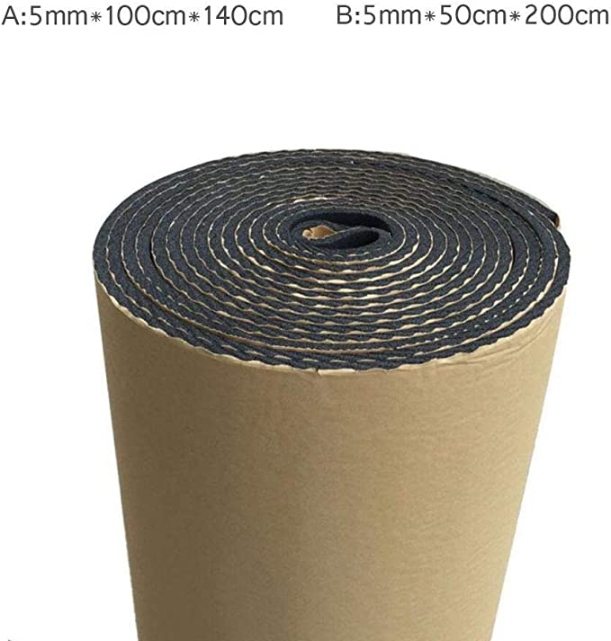 Sound Deadening Mat 15.1 Sqft 5mm//0.2inch Sound Deadener /& Heat Barrier Mat with Self-Adhesive /& 3.3 X 4.6 Roll 1.6 X 6.5 Roll 10.8 Sqft