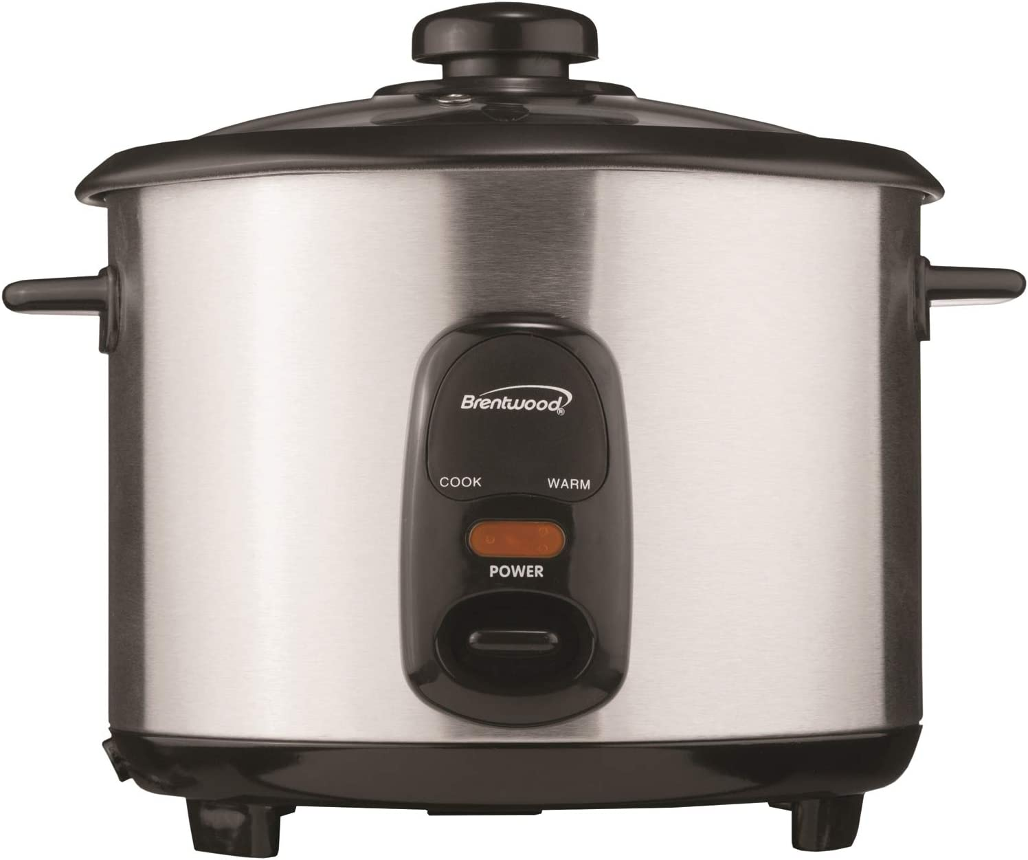 Brentwood Rice Cooker, 8-Cup, Stainless Steel,TS-15,2