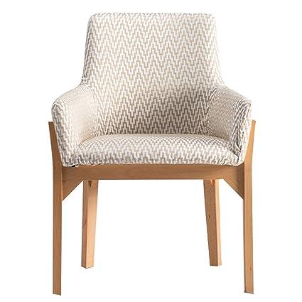 Amazon Com Armchair Lounge Chair Yoga Chair Solid Wood Dining Chair