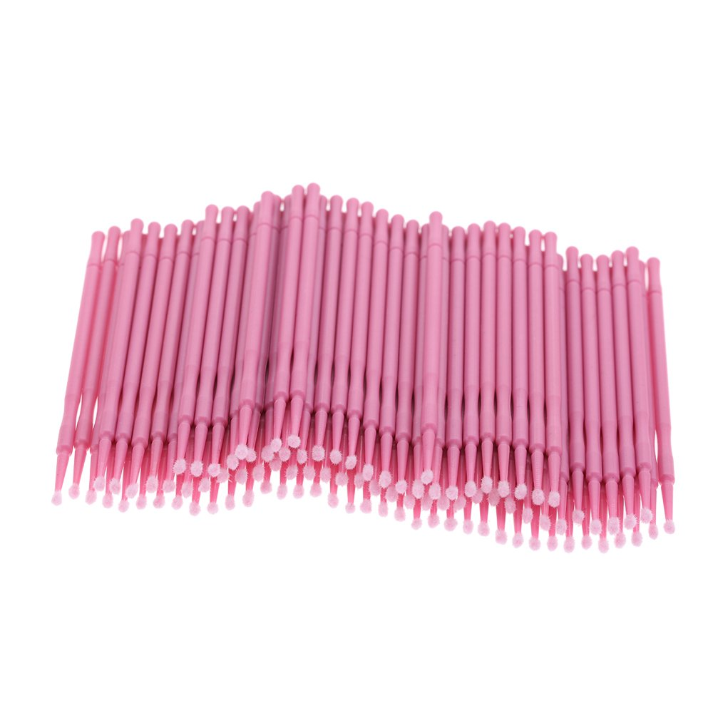 Anself 100pcs Cotton Swabs for Tattoo Makeup Ear Cleaning Swabs With Plastic Handle Disposable W4474-HMMFBA