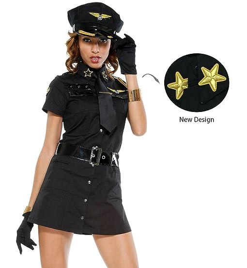 Viyor Halloween Sexy Police Officer Woman Costume  sc 1 st  Amazon.com & Amazon.com: Viyor Halloween Sexy Police Officer Woman Costume: Clothing