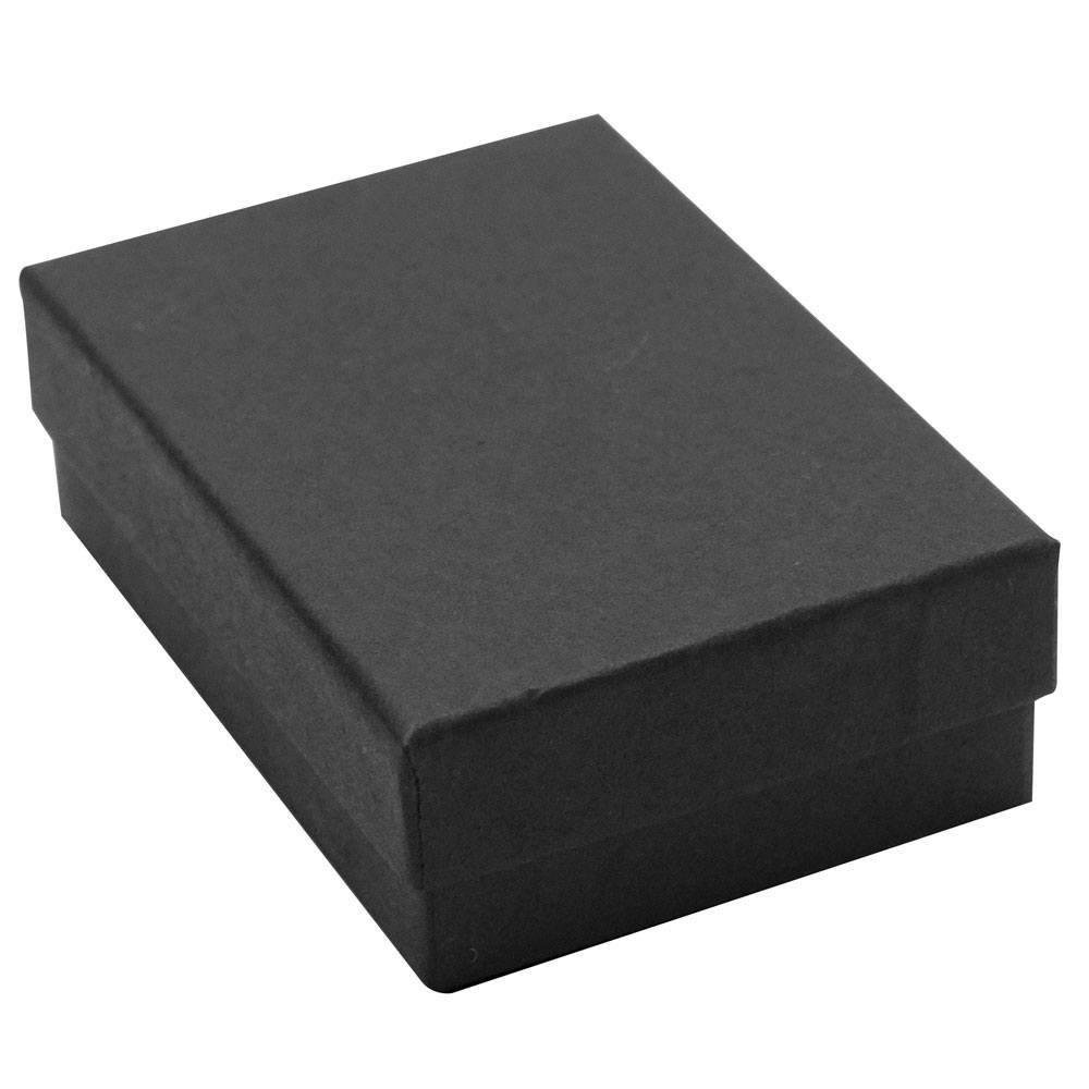 Matte Black Cotton Filled Box #32