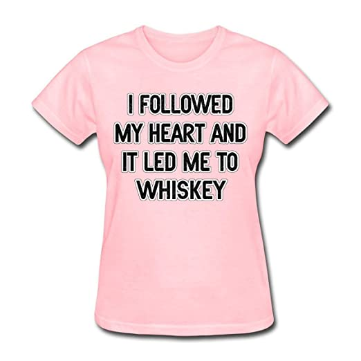 1a9f4c8e Amazon.com: WENL Women's I Followed My Heart and It Led Me to Whiskey T- Shirt: Clothing