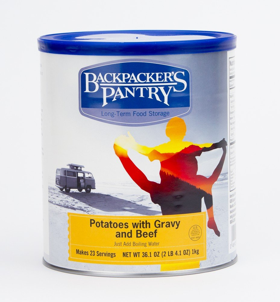 Backpacker's Pantry Mashed Potatoes and Gravy with Beef, 36.1 Ounces, #10 Can