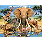 Howard Robinson Africa Super 3D 500-Piece Puzzle
