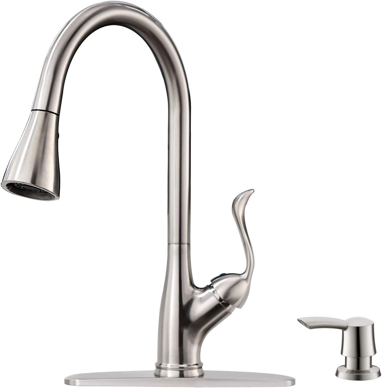 Touch Kitchen Faucets with Pull Down Sprayer Matte Black Sink /& Soap Dispenser