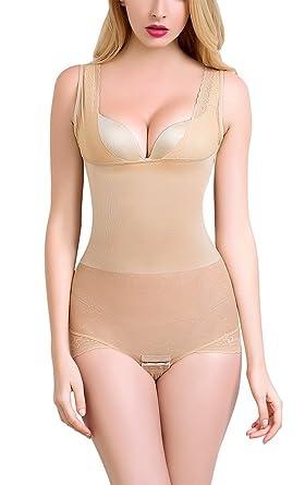 Aivtalk Femme Gaine Combinaison Body Minceur Efficace Lingerie Sculptante  Amincissant Push-up Dentelle Panty Galbante a96b8828d68