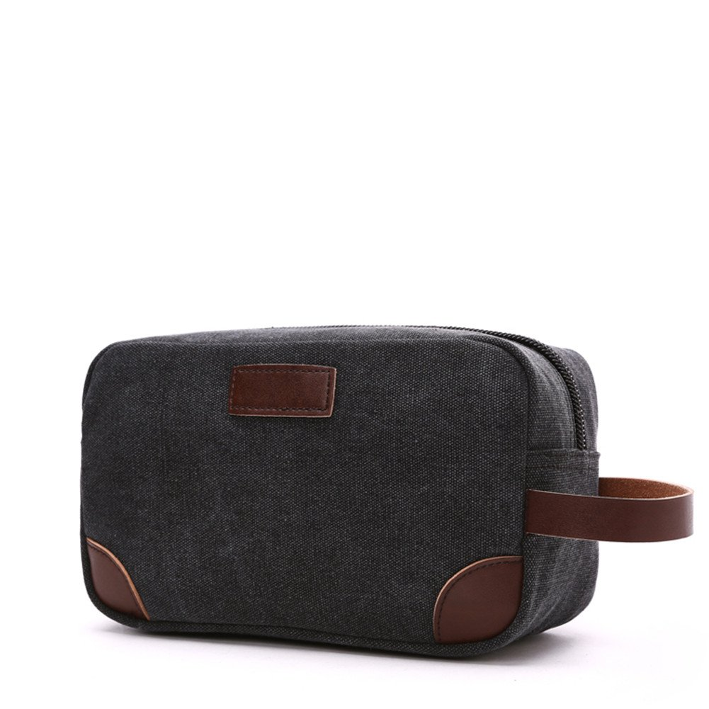 3e4a7b06fd Dolce    Gabbana Mens Black Beauty Toiletry Bag Travel Overnight Wash Gym  Shaving Bag