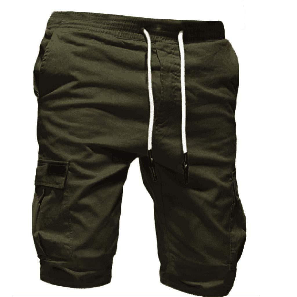Yinshao pantaloncini uomo Cargo Cotone Lavoro lavtaglie Forti Bermuda Palestra Pantaloni Corti Uomo Cargo Taglie Forti Pantaloni Corti Uomo Sportivi con tasconi Uomo Pantaloncino Estivi Uomini