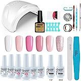 Vishine Gel Nail Polish Starter Kit with 48W SUNOne UV LED Nail Lamp Speed Dryer Manicure Tools 6 Pretty Colors Gel…