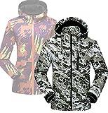 Xiami Leyuan XMLY Mens/Womens Snow Camo Windbreak Softshell Ski Jacket Couples Coat (L(Men 85-95kg), Men Green)