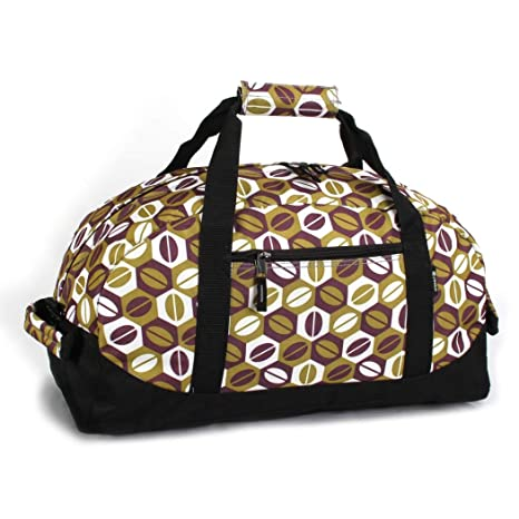 2bc728a29d Amazon.com   Girls Green Purple Coffee Beans Themed Carry on Duffle ...