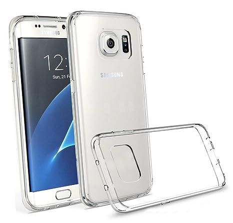 LUCKLYSTAR® Carcasa para Samsung Galaxy S7 Edge Slim Transparente TPU Silicona Funda Anti-Rasguño Anti-Golpes Protective Case para Samsung Galaxy S7 ...
