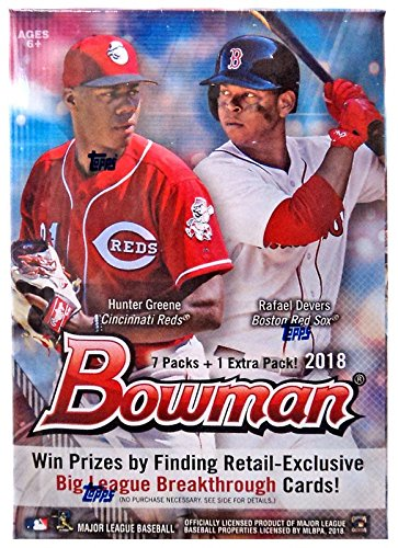2018 Bowman Baseball Blaster Box (8 Packs/10 Cards - Possible Autographs) from Bowman