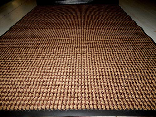 (4 'x 6' Prestige Brown Door Mat Heavy Duty Enter Enter Business Front Door Unique Classic Design)