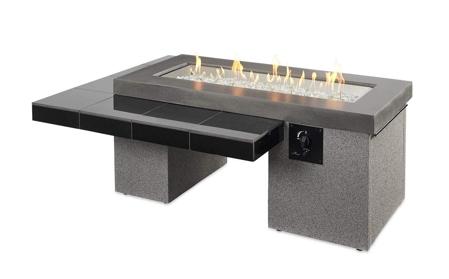 Outdoor Greatroom Uptown Gas Fire Pit with 42x12 Inch Burner, Black by The Outdoor GreatRoom Company