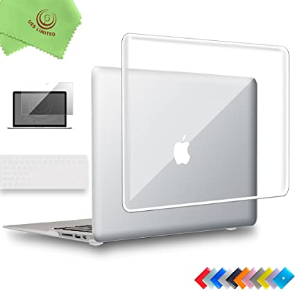 quite nice 88a29 658c8 Amazon.com: UESWILL 3in1 Glossy Crystal Clear Hard Shell Case Cover ...