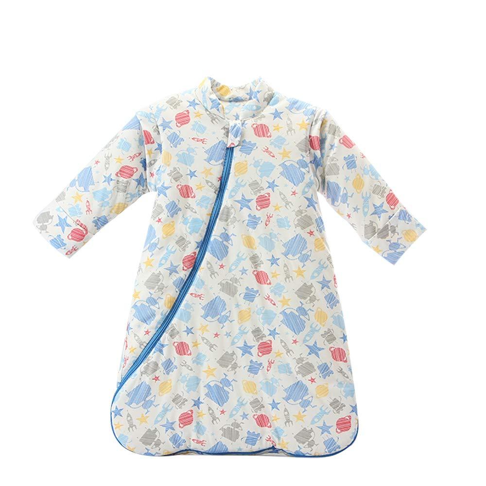 DANGTOP Baby Sleeping Bag Wearable Blanket Long Sleeve Cotton Sleepsack for Winter, Cartoon Pattern Sleep Nest for Boys Girls.(M) White by DANGTOP