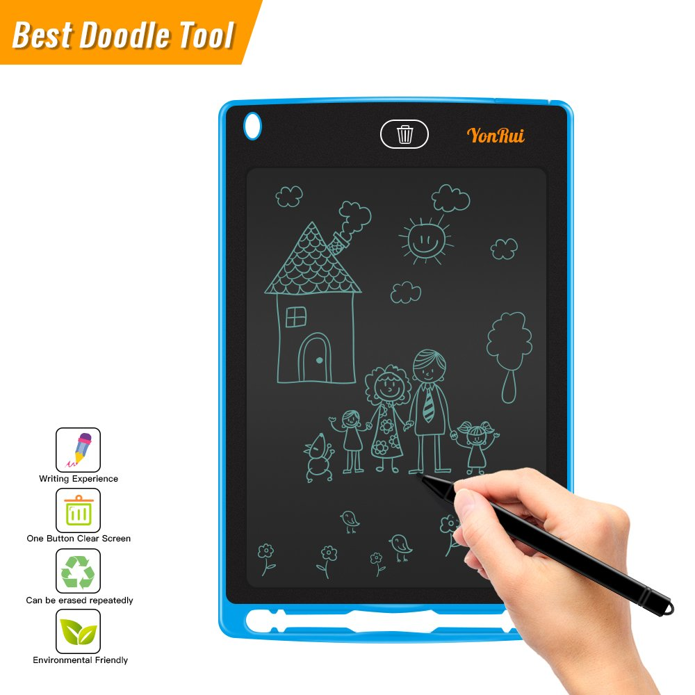 Tableta de escritura LCD, gráficos de escritura de 8.5 pulgadas Tablero de escritura electrónica de dibujo y pintura para niños puede ser utilizado como tableros de mensajes y signos en la escuela / oficina / hogar- 1 año de garantía YonRui