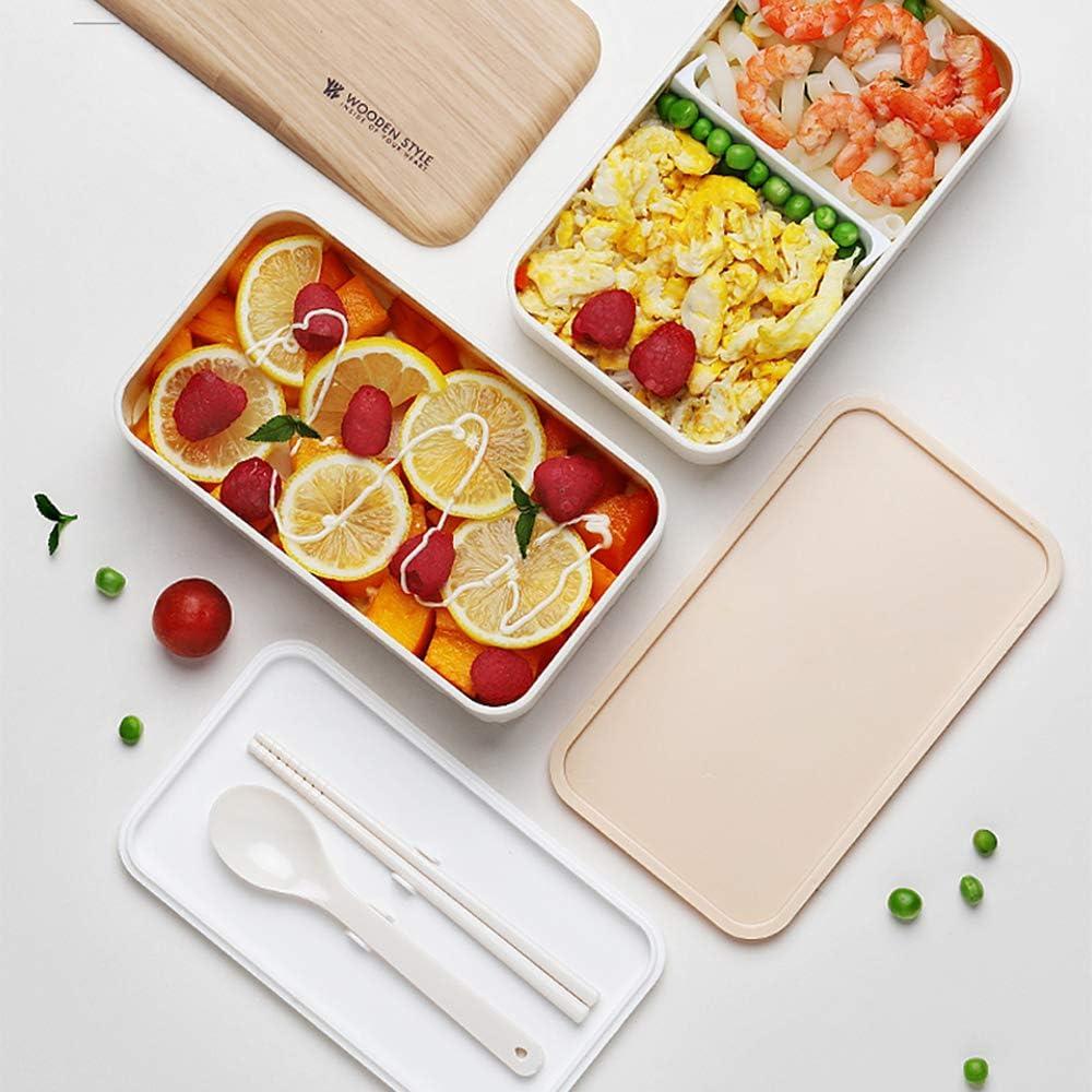 Contenitore per bento da 1000 portatile ea prova di perdite pasti leggeri 1500ML Contenitore per il pranzo Contenitore per bento con paglia di grano a microonde per fornire un imballaggio leggero
