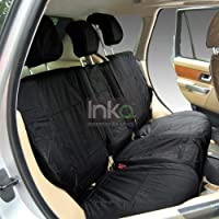VW T5 CARAVELLE SEAT COVERS 2003 ON REAR SEATS SET2 BLACK