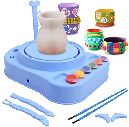 Educational DIY Toys Exercise Childrens Handmade Ability /& Interest Cultivating. Electric Pottery Wheel for Kids|Electric Pottery Wheel Art Craft Kit|Handmade Children Clay Machine