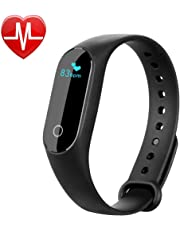 Fitness Tracker, Parsion Activity Tracker with Heart Rate Monitor Smart Wristband Sports Bracelet/Step Pedometer/Sleep Monitor/Call Reminder/Alarm Clock, Bluetooth 4.0 Smartwatch for Android and iOS