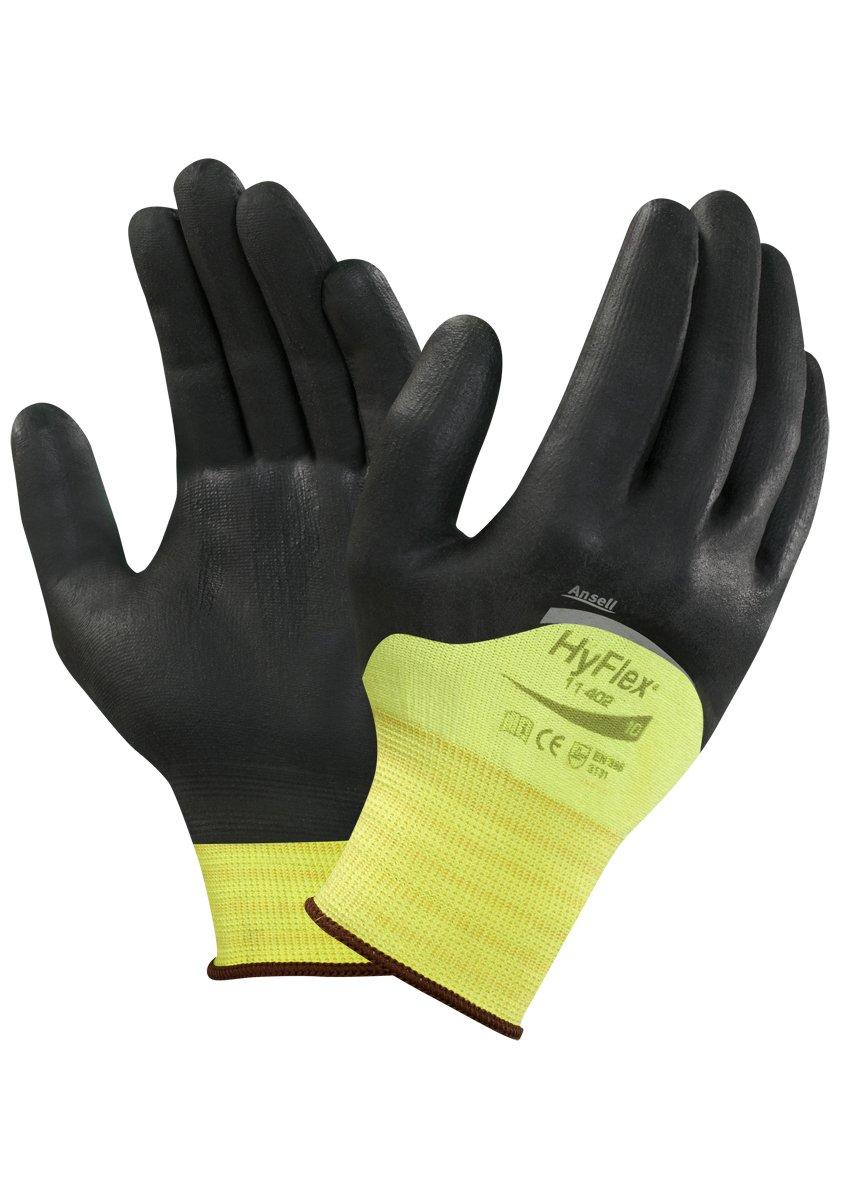 protection m/écanique Blanc Sachet de 12 paires Taille 6 Ansell HyFlex 11-605 Gants pour usages multiples