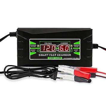 YTBLF Cargador de batería de automóvil de 12 V, Pantalla ...