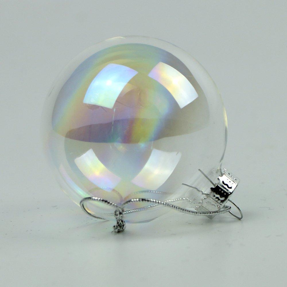 10pcs Christmas Baubles Balls Glass Style Shatterproof Xmas Tree Decoration 65mm Good shop us