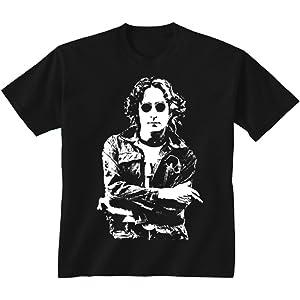 Kids Childrens John Lennon The Beatles Iconic Rock T-shirt Sizes Age 5 to 13